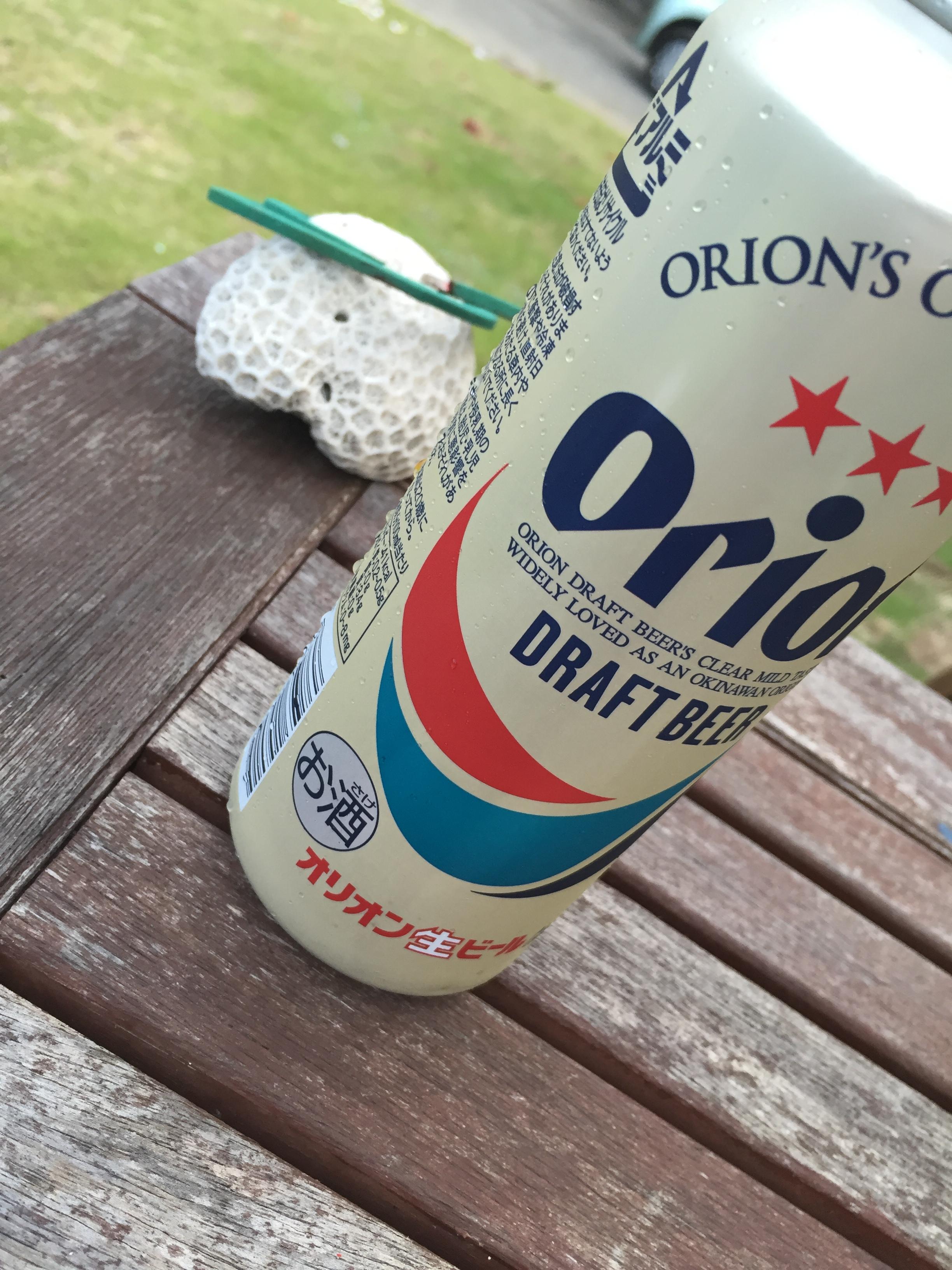 オリオンビールと花火