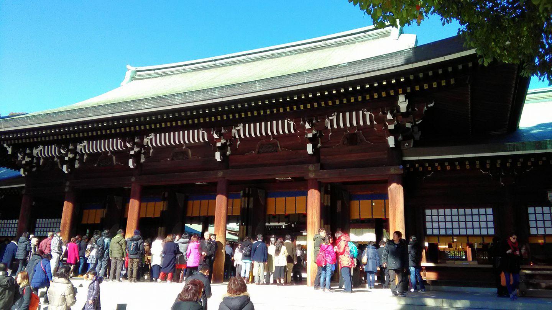 原宿駅の明治神宮へ初詣!商売繁盛を祈祷して貰いました!3