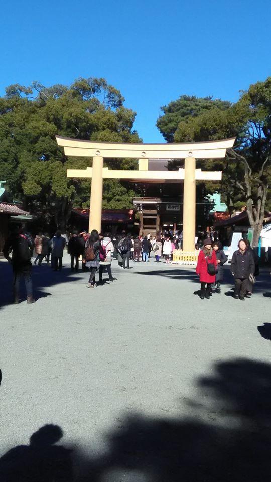 原宿駅の明治神宮へ初詣!商売繁盛を祈祷して貰いました!2