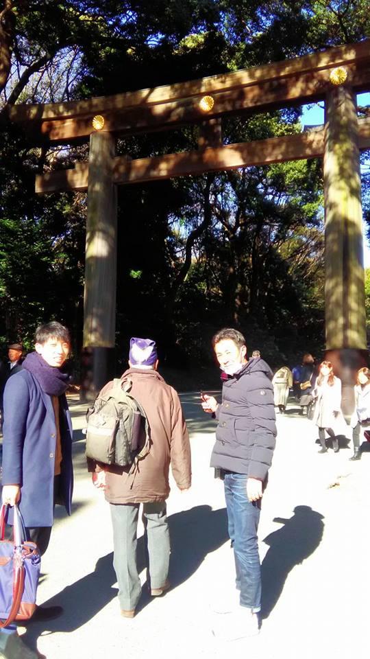 原宿駅の明治神宮へ初詣!商売繁盛を祈祷して貰いました!4